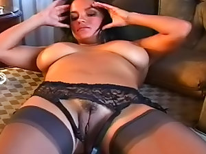Smokin' lady undressing herself so sexy