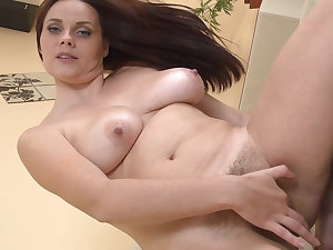 Sexually excited milf Leyla pokes her breathtaking curly pusys