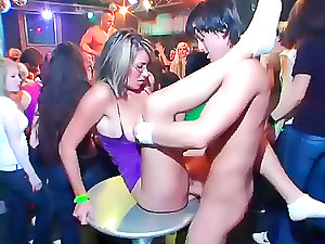 Ginny harlots drilled by male strippers