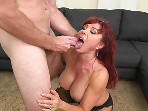 Breasty mommy goes messy on her step son