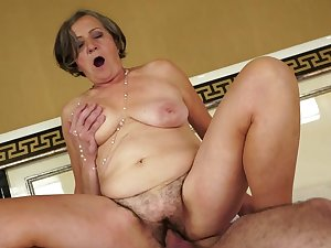 Granny living fucked by a youthful stud
