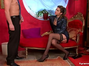 Hawt darksome nylons on demanding virgin