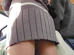 Enjoyable sweetheart living upskirted outdoors on the web camera