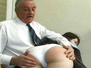 Schoolgirl submissive spanked and caned