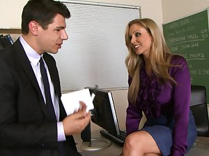 Milf with hawt smile Julia Ann is fucking in the classroom