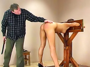 Ravishing lassie in the stockades spanked difficult