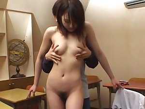 Oriental schoolgirl which is screwed in her throat