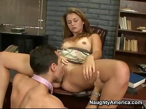 Small gal office fucking