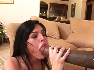 Fleshly brunette hair Sadie West is tour on the formidable cock