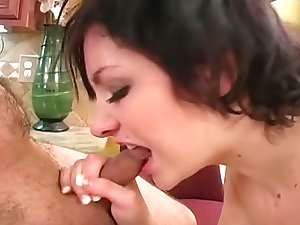 Slim young lady is coarse with his knob