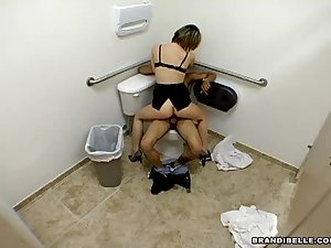 Engulf and fuck in toilet room