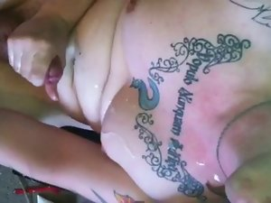 tattoo mate busts a nut for me