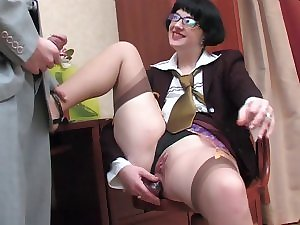 Office quicky with rectal hole secretary