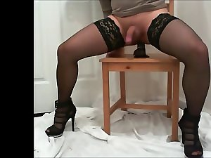 sextoy in my sissy CD ass