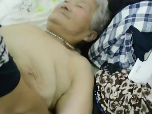 80yr mature Welcomed japanese Granny Tranquil acquires Creamed (Uncensored)