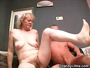 Hairy Granny Prick Fondles And Acquires Drilled