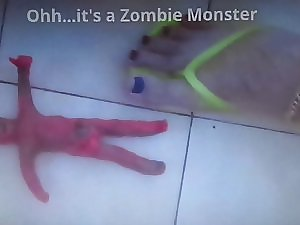 Xxl important penis Zombie Clomp footjob and Pounded