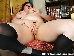 Darksome stockings and online porn receive mom smutty and fleshly