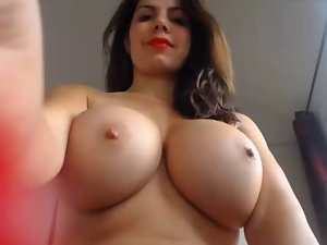 Mega large boobs squirt labor from this floozy