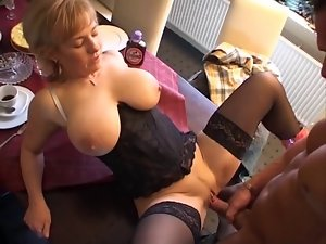 Large scoops Mum Fuck On The Table