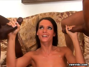 Jennifer Black darksome haired delights interracial dp