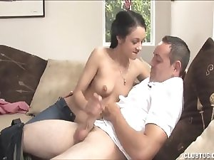 Wanton Black haired Forenoon Masturbation On The Bed