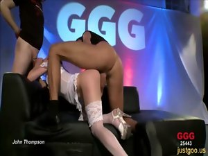 Sarah received priceless shagging and cumshots