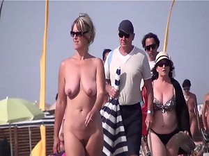 French nudist shore front Cup d'Agde nation walking undressed 09