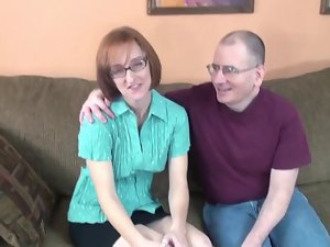 Nerd Cheating wife Layla Strokes Off A Couple Of Penises