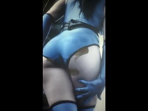 Cum Discharged With Kitana's a-hole (Sexy Randy Cosplay)
