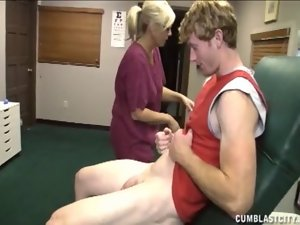 Light-haired Care Has A Cum Shower