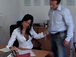 Immodest Office Black haired