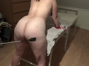 Danish girlie luminous thrashing with whip - Lidt blid slavery leg