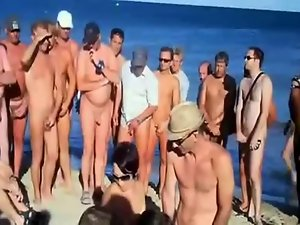 Voyeur..Swingers At A Seaside With Many Onlookers #1