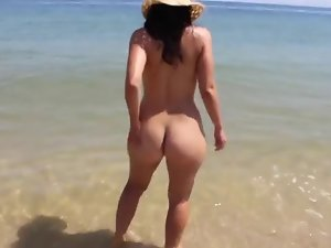 Astonishing Soaked around a-hole Lustful maiden on Waste Strand BVR