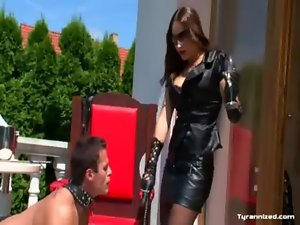 Sadomasochism fetish femdom enjoying dominatrix-bitch