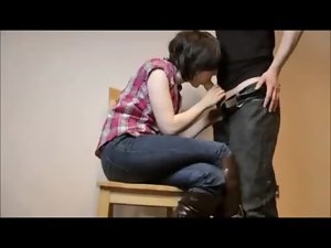 Dilettante Cowgirl Creampied on Homemade Quickie