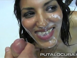 PUTA LOCURA Enchanting Non-professional Sizzling young boy Latin chick acquires a Bukkake