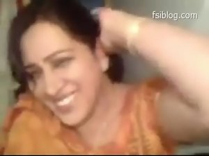 Fine looking Punjabi bhabi demonstrates her boobs, fondles and strokes penis, Punjabi audio