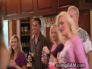 Pervs and concupiscent wives receive willing for handsome swingers soiree