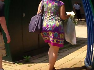 Latin babe Nasty bum In Summer Suit Booty Culo