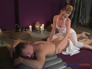 Massage Rooms Pliant light-haired sexual boy gives 19yo guy fuck he'll not ever take mind off