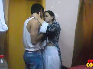 randy indian stylish and seasoned sonia bhabhi licking her masculine massive spear