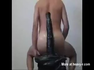 15 inch dildo in bum