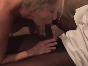 Lustful older golden-haired rides bbc