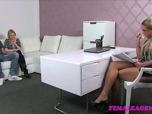 FemaleAgent Exciting casting considering that cheating man